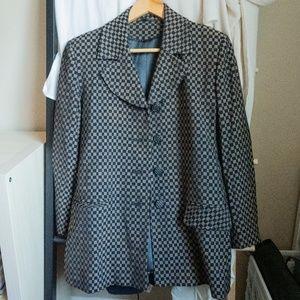 Vintage Checkered Blazer